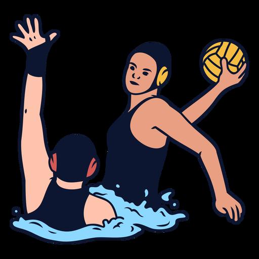 Women waterpolo sport players match
