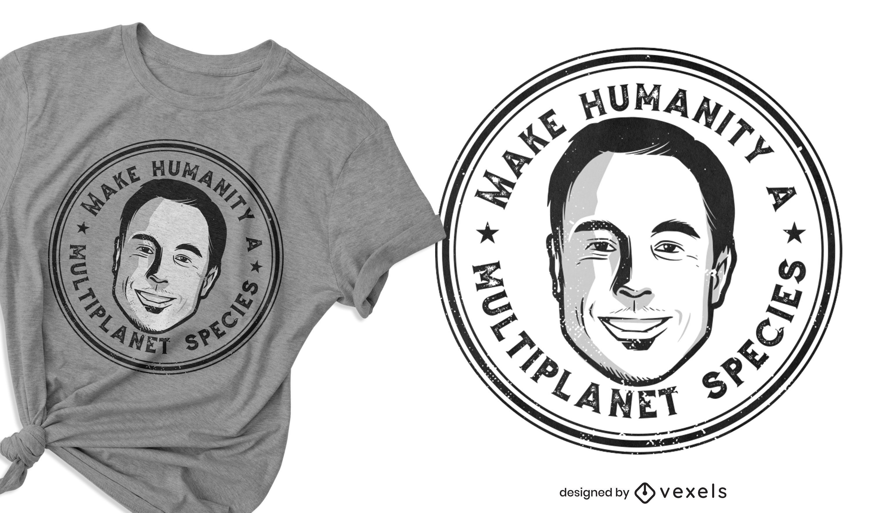 Species quote man t-shirt design