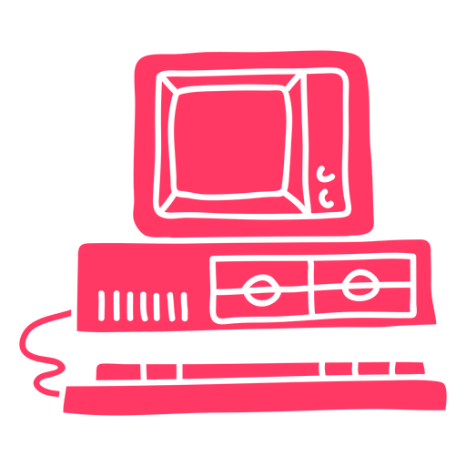90's computer cut out