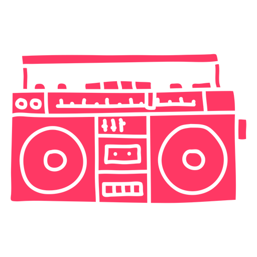 80's vintage radio cut out
