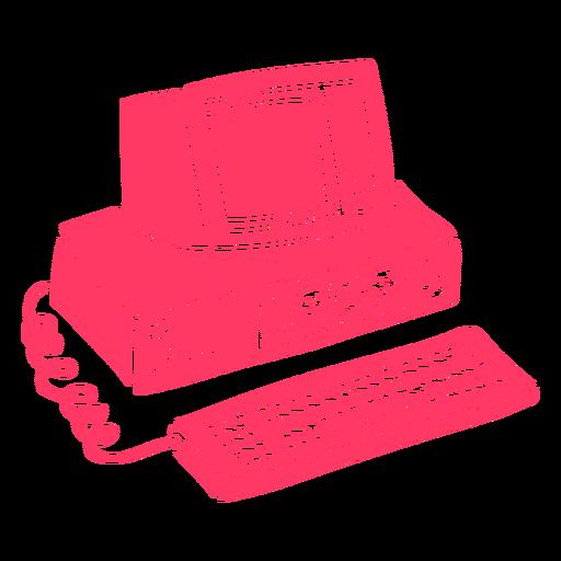 90's vintage computer cut out