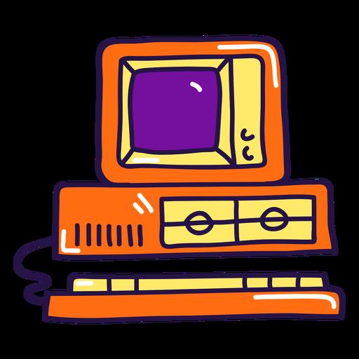 Old computer color stroke