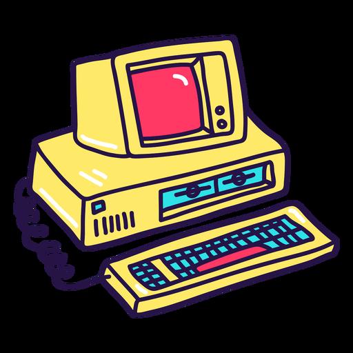 90's computer color stroke