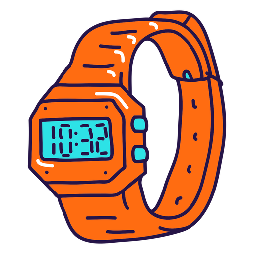 90's cool watch color stroke