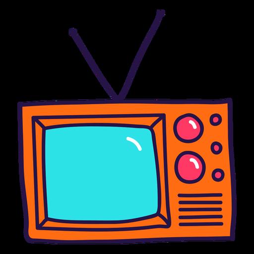 Retro TV color stroke