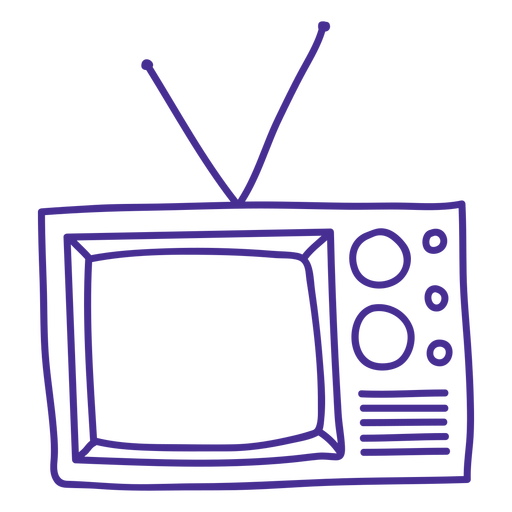 Retro tv stroke