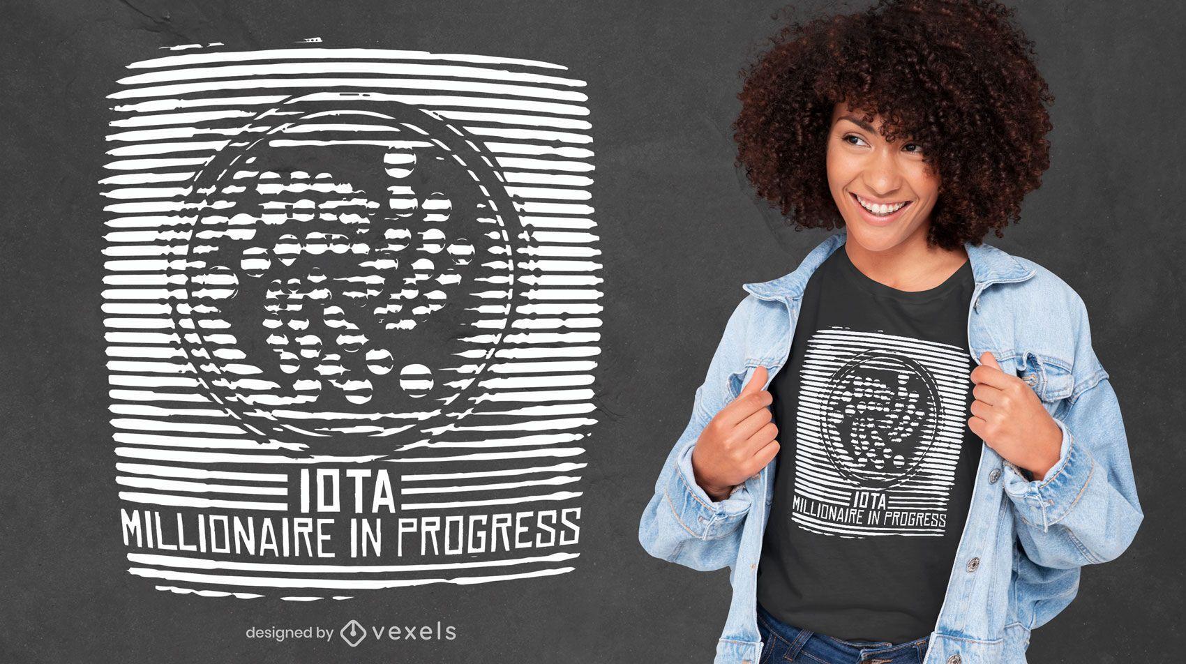 Diseño de camiseta estática de criptomonedas.