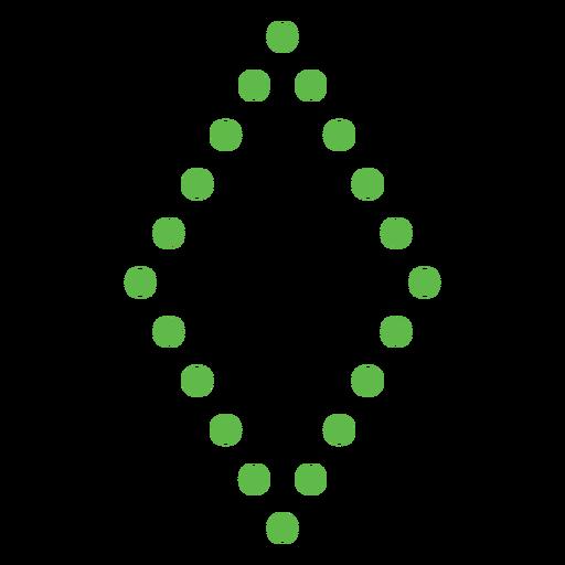 Dotted diamond shape flat