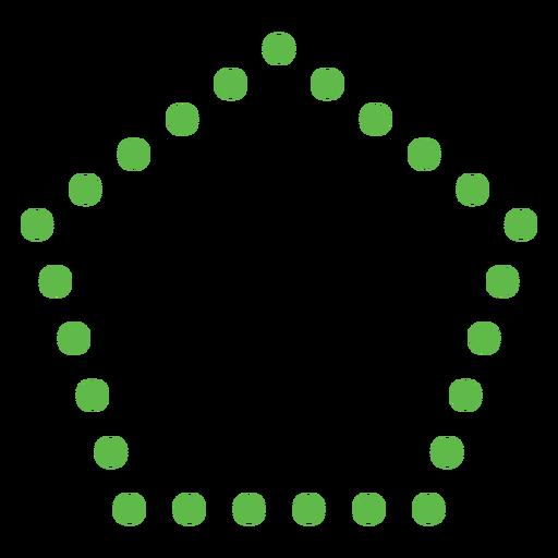 Dotted pentagon shape flat