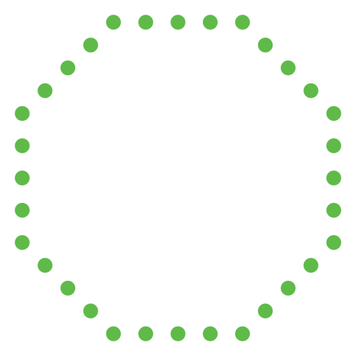 Dotted octagon shape flat