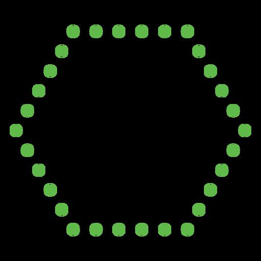 Dotted hexagon shape flat