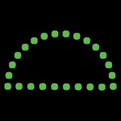 Dotted half circle shape flat