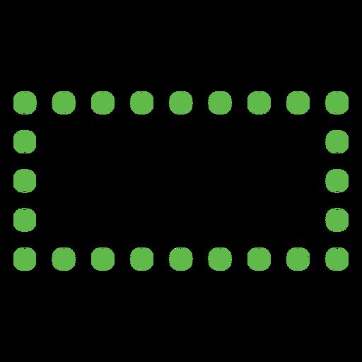 Dotted rectangular shape flat
