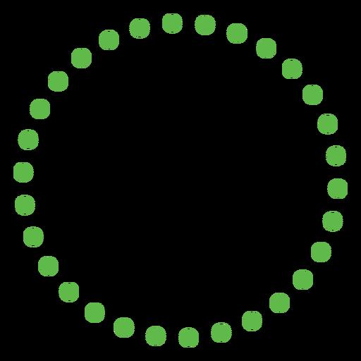 Circle shape dots flat