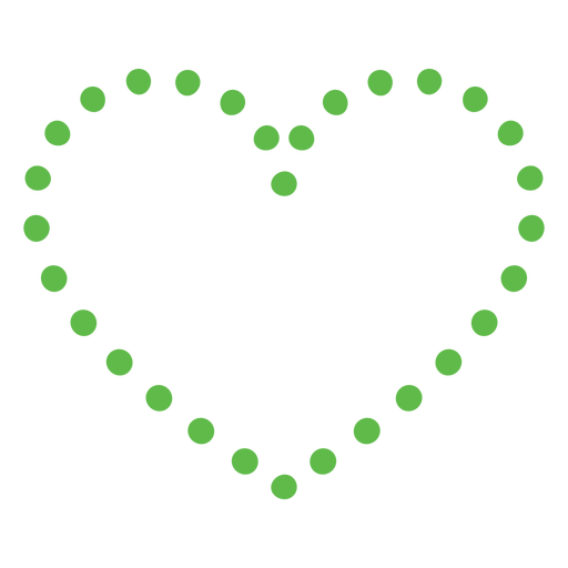 Heart dots flat