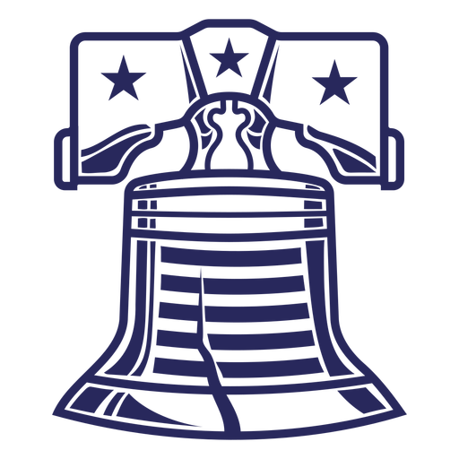 American liberty bell badge filled stroke