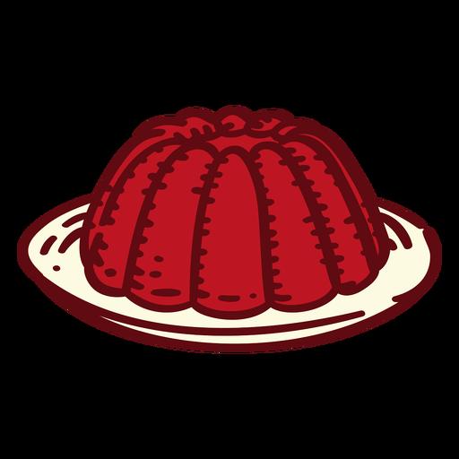 Jelly dessert color stroke