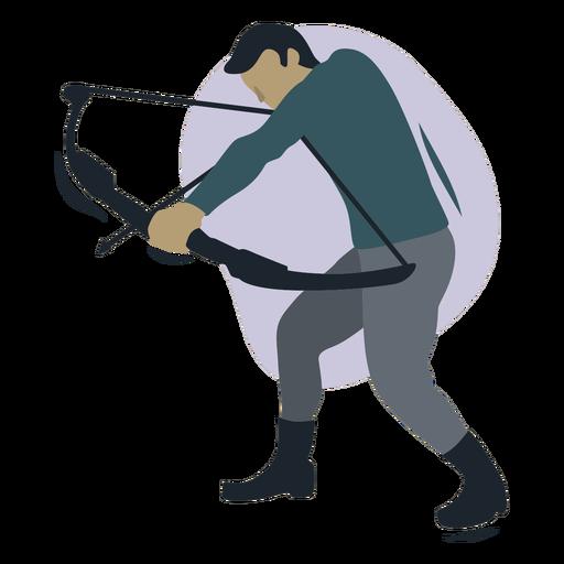 Man archer aiming semi flat