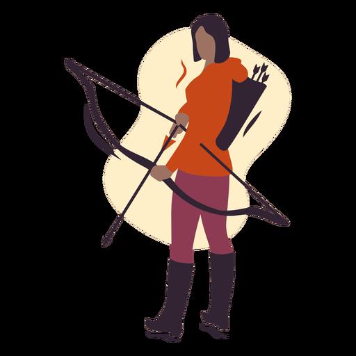Female archer semi flat