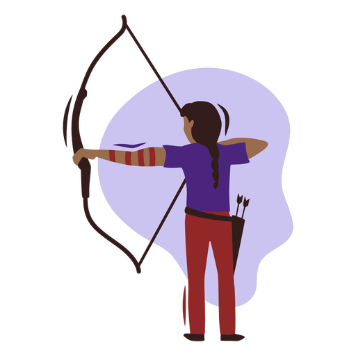 Girl archer flat