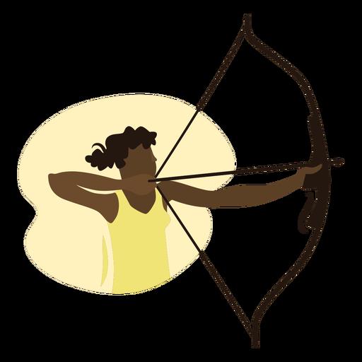 Woman archer flat