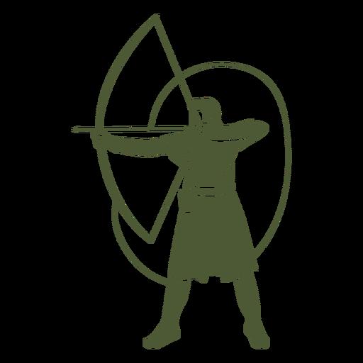 Male archer cut out