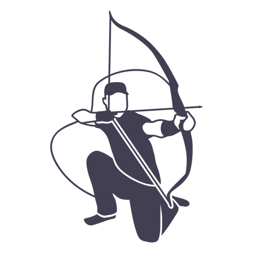 Kneeling bow and arrow cut out man