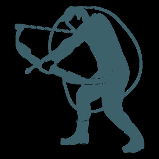 Shooting archery man cut out