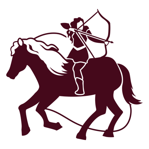 Woman archer on a horse cut out