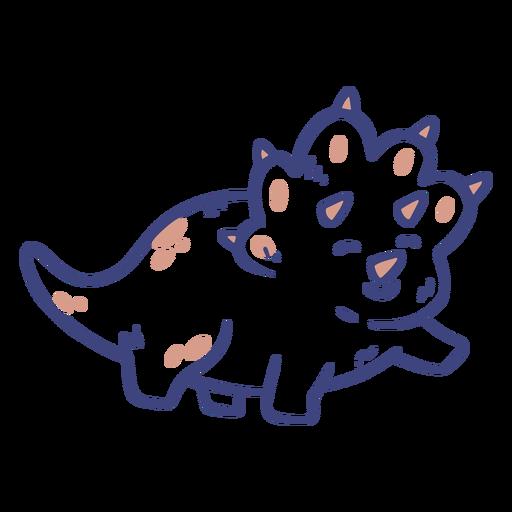 Süßer Triceratops-Dinosaurier