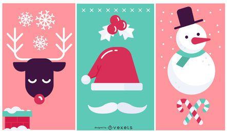 Elementos de diseño de navidad