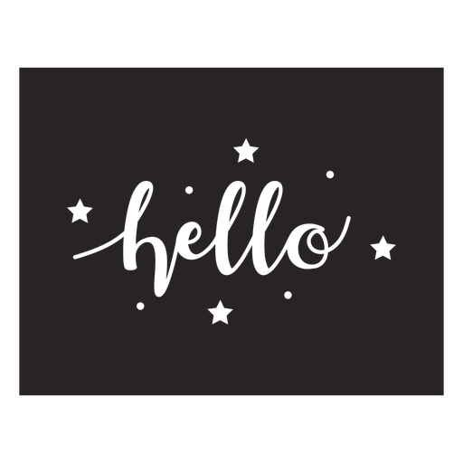 Hello lettering quote element