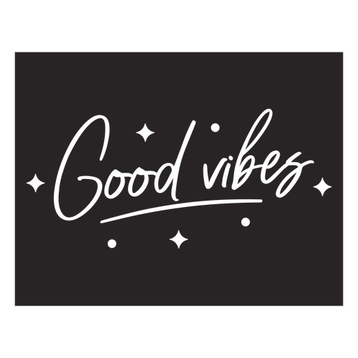 Good vibes lettering quote element
