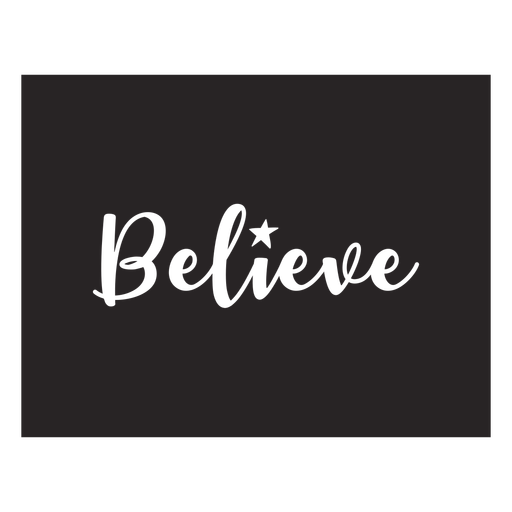Believe lettering quote element
