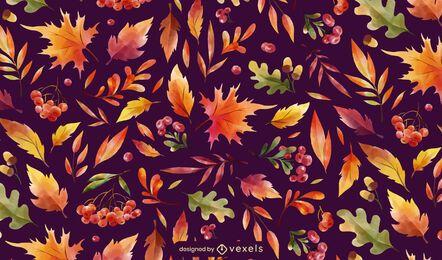Autumn season leaves pattern design