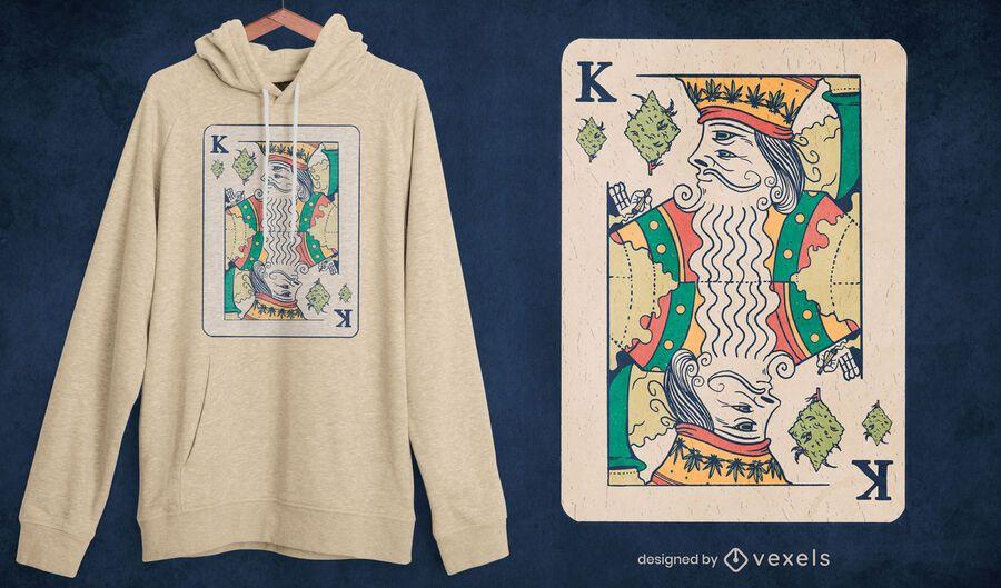 King poker card weed t-shirt design