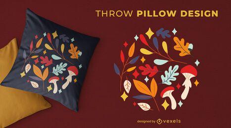 Autumn decoration throw pillow design