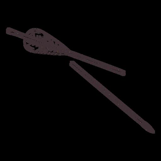 Broken simple archery arrow