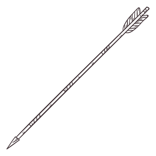 Wide fletching archery arrow stroke
