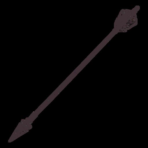 Wide fletching pointy archery arrow