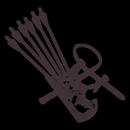 Arrow quiver detailed stroke