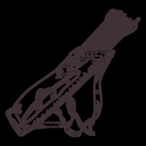 Leather arrow cointainer archery