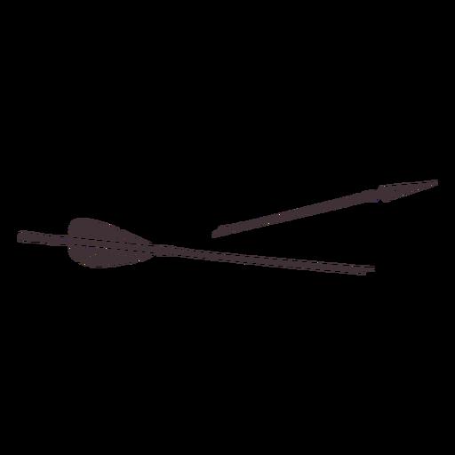 Broken thin head arrow cut out