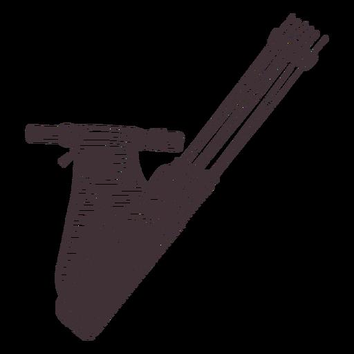 Simple archery arrow quiver cut out