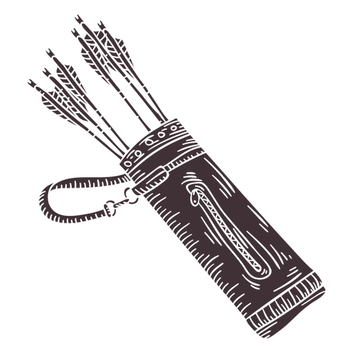 Arrow container quiver cut out