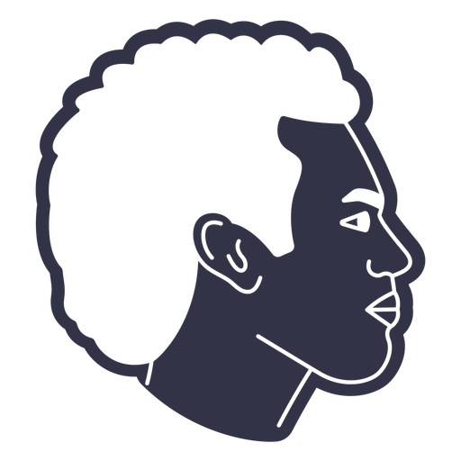 Man afro hairstyle cut out