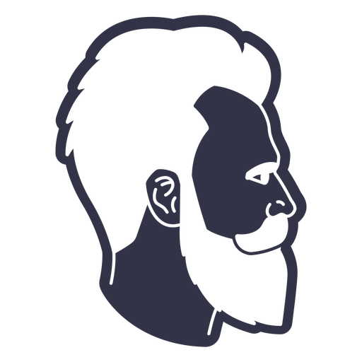 Hipster haircut cut out