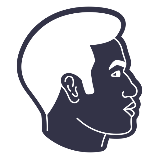 Short hairstyle man cut out