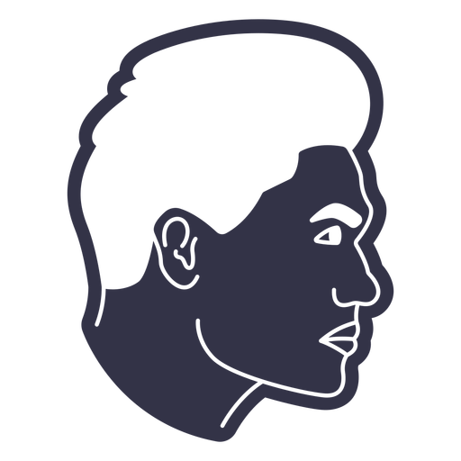 Men's hairstyle cut out