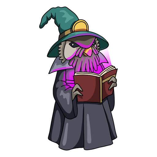 Wizard owl color stroke